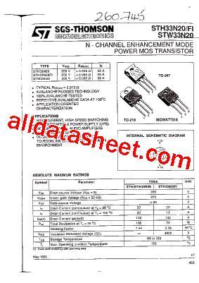326 transistor datasheet stw33n20 datasheet pdf stmicroelectronics