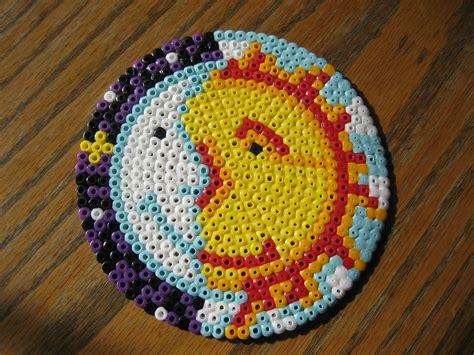 perler circle patterns perler sun moon perler bead photos ideas