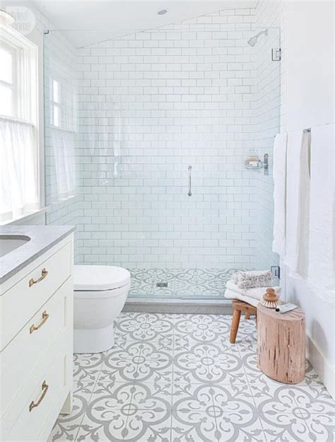 bathroom tiles white and grey patterned tile trend the honeycomb home