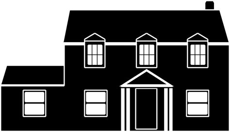 house clipart black  white png   cliparts