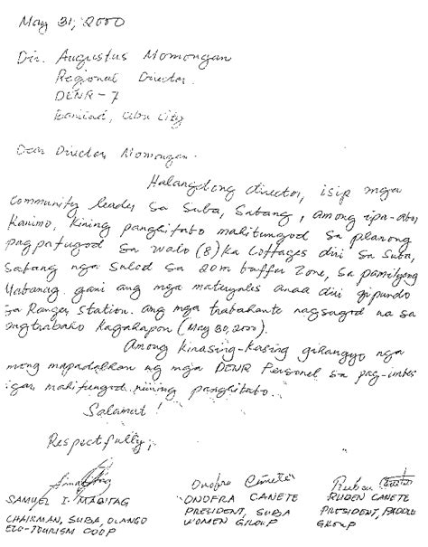 Barangay Petition Letter Request Letter For Clearance Certificate In India Accordo Internazionale