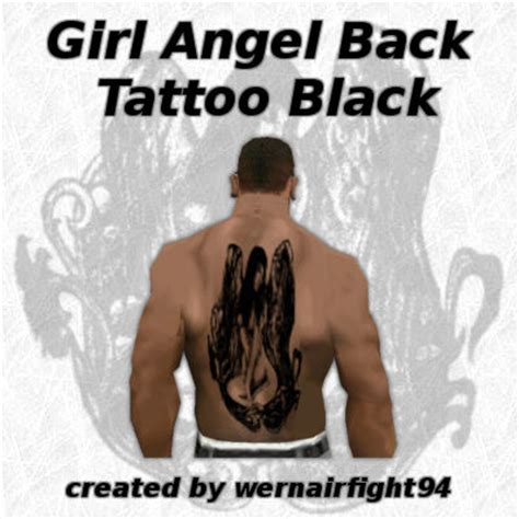 gta online tattoo angel gta san andreas girl angel back tattoo black mod