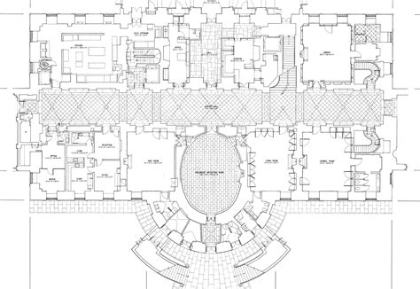 The White House Floor Plan by The White House Floor Plans Washington Dc