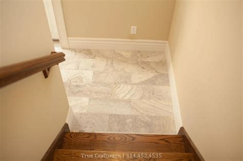 Travertine Entryway silver travertine entryway traditional entry st louis by westside tile inc