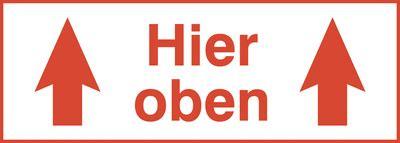 Paketaufkleber Oben by Paketaufkleber Quot Hier Oben Quot Bei Seton Kaufen