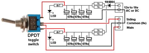 capacitor discharge units schematic cdu with spdt switch