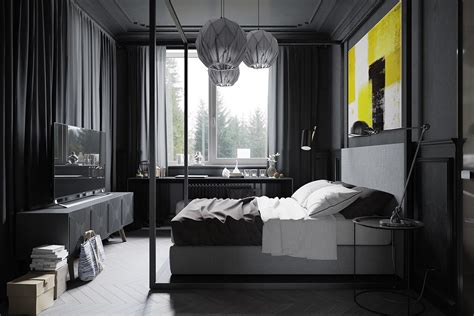 Dark Grey Bedroom | a hipster inspired design concept for russian gaming