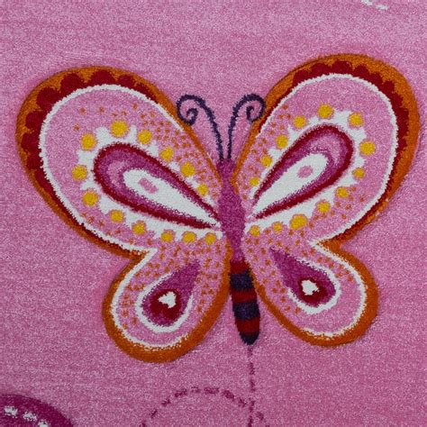 childrens butterfly rug child s bedroom rug children s rug with butterfly motif contour cut pink children s rugs