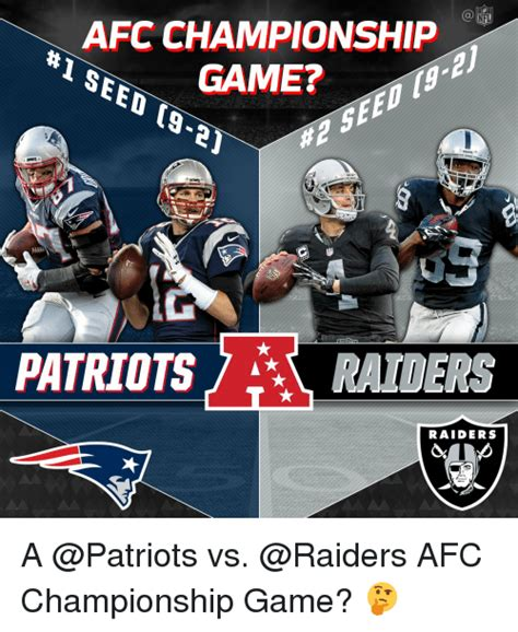 Nfl Memes Raiders - nfl afc chionship seed game ta 21 patriots raiders