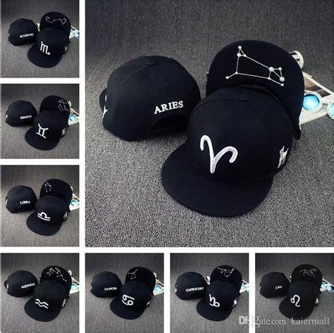 Topi Cap Hat Snapback Flash Black 12 constellations hats black topi zodiac hat fitted