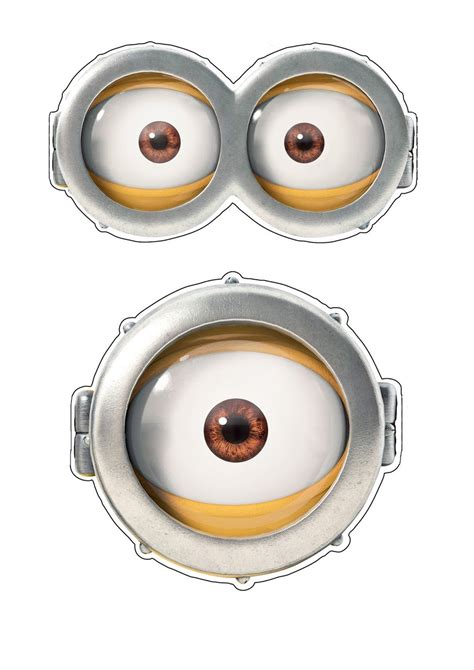 printable minion eyes template quick halloween party costume ideas minion s goggles easy