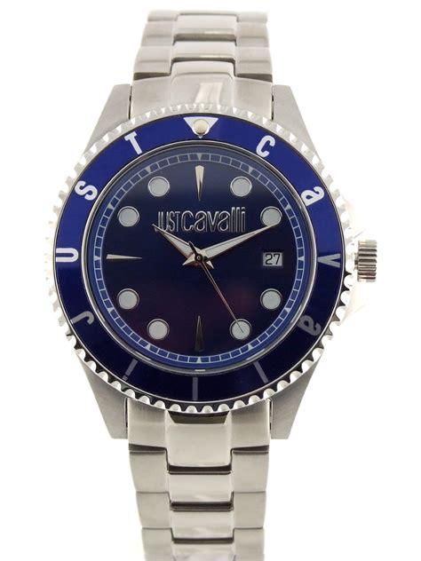 just roberto cavalli abyss 43 mm blue bracelet s