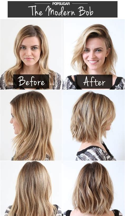 trim haircut before and after modern bob short haircuts before after popular haircuts
