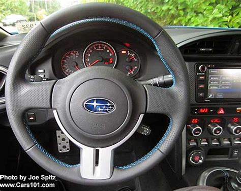 subaru brz steering wheel controls 2016 brz leather wrapped steering wheel with dimpled grips