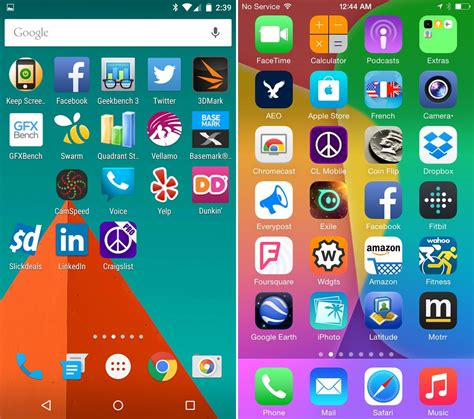 android version 5 android 5 0 lollipop vs ios 8 ui comparison vote for the better interface here