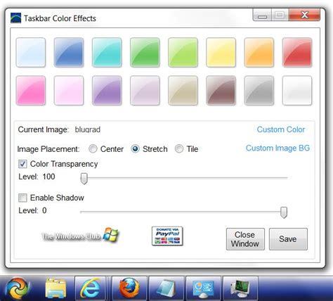 windows 7 change taskbar color add color effects to windows 7 taskbar with taskbar color