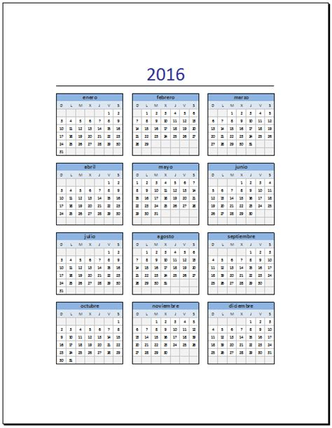 calendario 2016 para imprimir on pinterest calendar calendario 2016 en excel para imprimir calendario