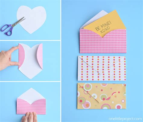 How Do You Fold Paper Into An Envelope - folded envelopes one project