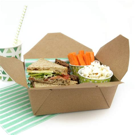 cuisine box kraft brown food boxes by blossom