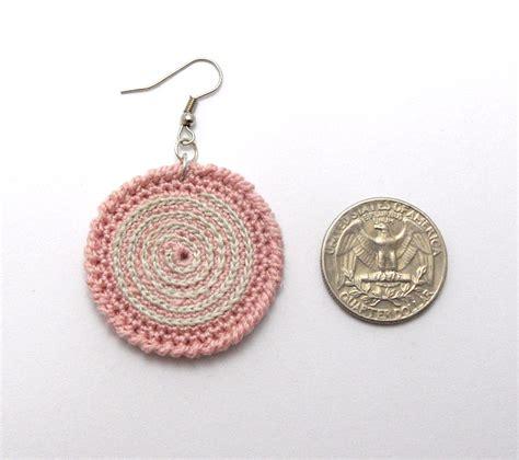 pattern crochet earrings twirl crochet earrings pattern p0016