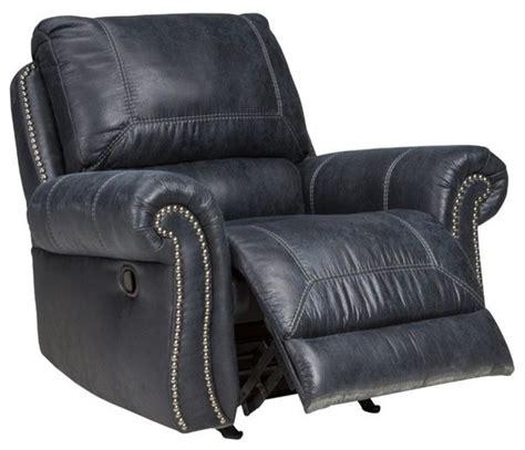 black faux leather rocker recliner milhaven faux leather power rocker recliner black