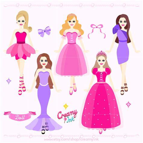 fashion doll vector doll digital clip princess dolls digital clipart