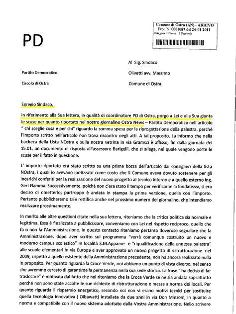 lettere di scuse per associazione progetto ostra lettera di scuse pd ostra