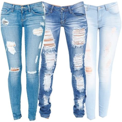 ripped skinny jeans polyvore from regular basic jeans to ripped skinny jeans acetshirt