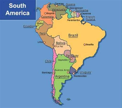 south america map capital cities map of south america with capitals holidaymapq