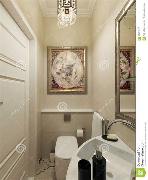eastern bathroom eastern bathroom design stock illustration image 56457297