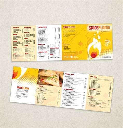indian restaurant menu template designs modern menu 114