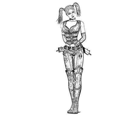 batman harley quinn coloring pages batman arkham city harley quinn sketch yumiko fujiwara