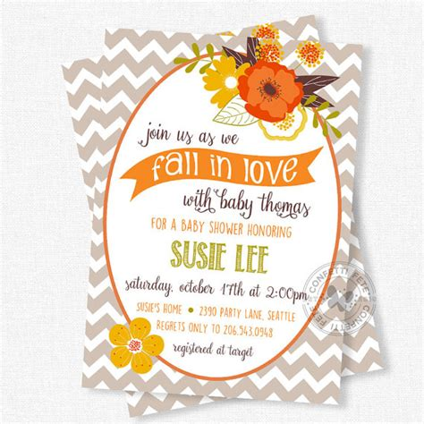 Fall Themed Baby Shower Invitations by Fall Baby Shower Invitations Floral Baby Shower Invitation