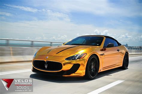 gold maserati car maserati grancabrio gold from velos designwerks
