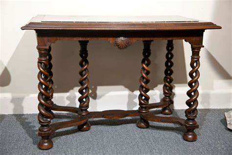 coffee table with barley twist legs at 1stdibs mahogany center library table 6 barley twist legs shell motif at 1stdibs