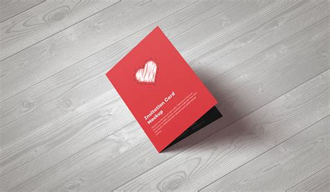 A5 Greeting Card Template Photoshop by Invitation Greeting Card A5 Brochure Mockup On Behance