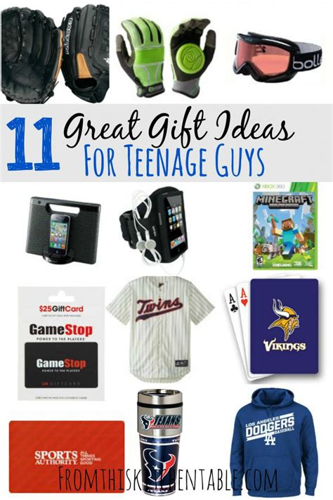 gift ideas for teenage boys shopping lists