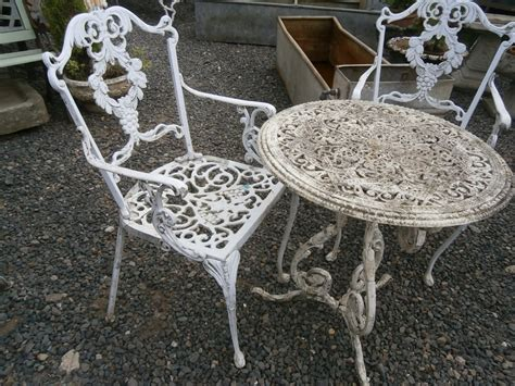 metal garden table and chairs antiques atlas metal garden table and 2 chairs