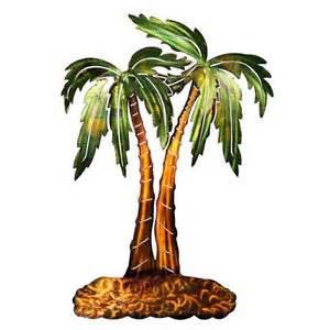 3d palm trees refraxions laser cut metal wall tropical