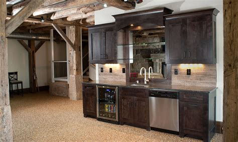 Rustic Basement Ideas Modern Rustic Basement Bar Kitchen