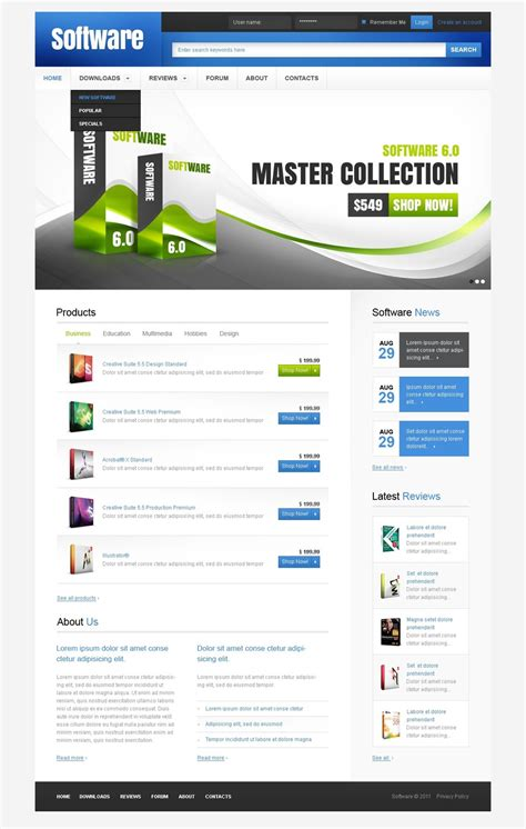 Software Company Psd Template 57227 Software Template