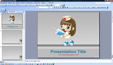 sexy nurse powerpoint template