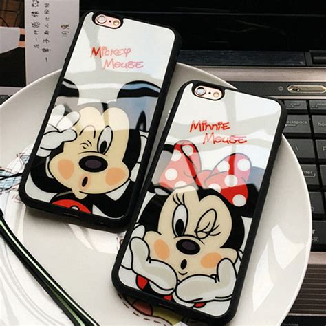 Mickey And Minnie Mouse Q0214 Iphone 7 Plus Casing Premium Hardcase mickey minnie mouse sweetheart silicone mirror cases for iphone 7 6 6s plus 5 5s se back