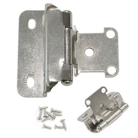 kitchen cabinet hinges self closing 1 4 quot overlay self closing satin nickel cabinet kitchen cupboard door hinges ebay