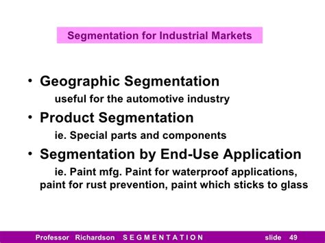 Industrial Segmentation In Mba by Segmentation