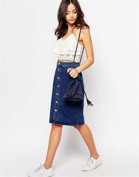 new look new look denim midi skirt
