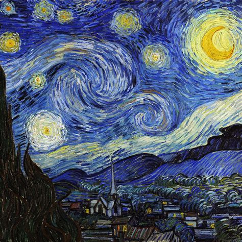 5 Paintings By Gogh by Aj42 Vincent Gogh Starry Classic Painting