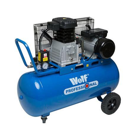 wolf 90 litre air compressor 150psi belt drive 3hp 14cfm cylinder 240v ebay