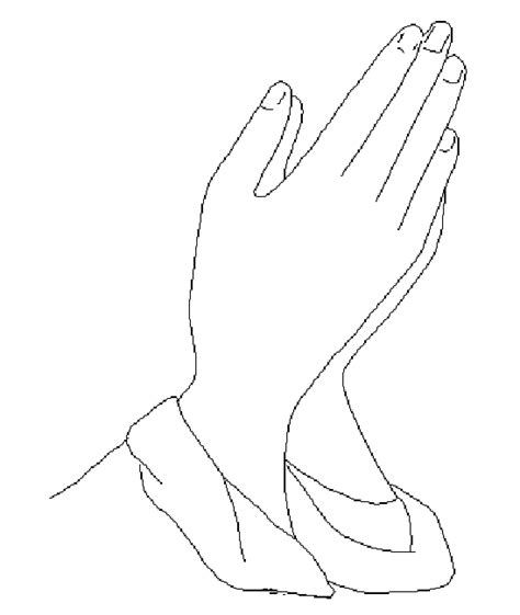 praying hands pages to color coloring