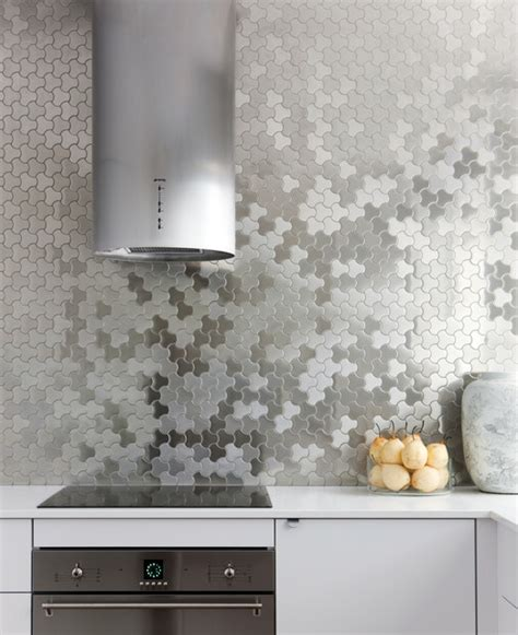 metal backsplash kitchen alloy metal tiles sydney kitchen contemporary kitchen sydney by alloy solid metal tiles
